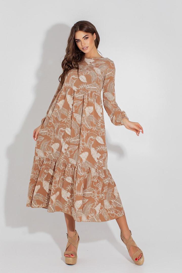 Женское платье, евро - софт, р-р 42; 44; 46; 48 (мокко)
