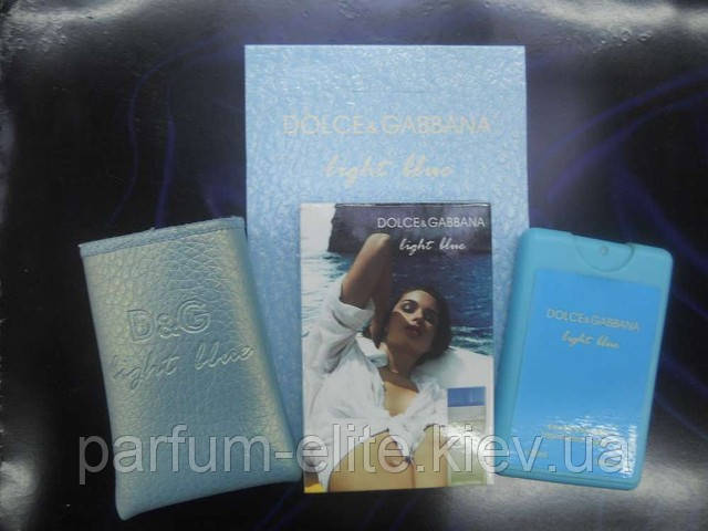 Мини-парфюм в кожаном чехле Dolce&Gabbana Light Blue 20ml