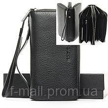 Кошелек-барсетка мужской кожаный большой BRETTON черный (05-103)