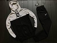 Мужской спортивный костюм Nike найк черно-серый стильный модный молодежный