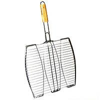 Решітка гриль для риби з нержавійки A-PLUS 3 секції для гриля