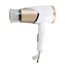 Фен для волосся дорожній Kemei Km-6832