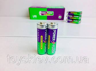 Батарейка алкалиновая POWER FLASH AA R6 (пальчик)
