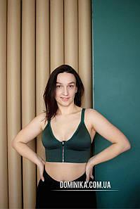 Зеленый женский топ бралетт с застежкой спереди на объемы 80/85 В/С