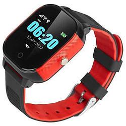 Фитнес-трекер для Детские смарт-часы GoGPS ME К23 Черный с красным (K23BKRD)