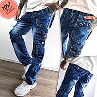 Чоловічі молодіжні джинси Vigoocc 7052 карго з кишенями. Розмір 30, фото 1