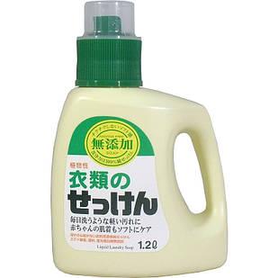Сура Additive Free Laundry Liquid Soap рідке мило для прання тканин з бавовни та льону 1200 мл