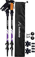 Трекинговые палки для женщин / мужчин (фиолет) USA Треккинговые палки Туристические палки для ходьбы хайкинга