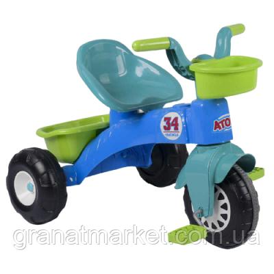 Велосипед трехколесный Pilsan 07-169 салатово-голубой