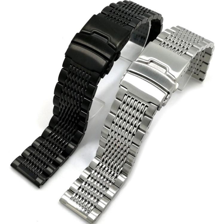 Универсальный металлический ремешок на часы шириной 20 мм