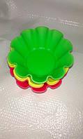 Набор силиконовых форм для выпечки кексик 5 шт.