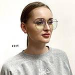 Имиджевые очки- бабочки в металлической оправе, фото 5