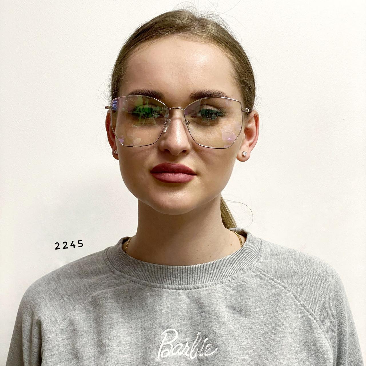 Имиджевые очки- бабочки в металлической оправе