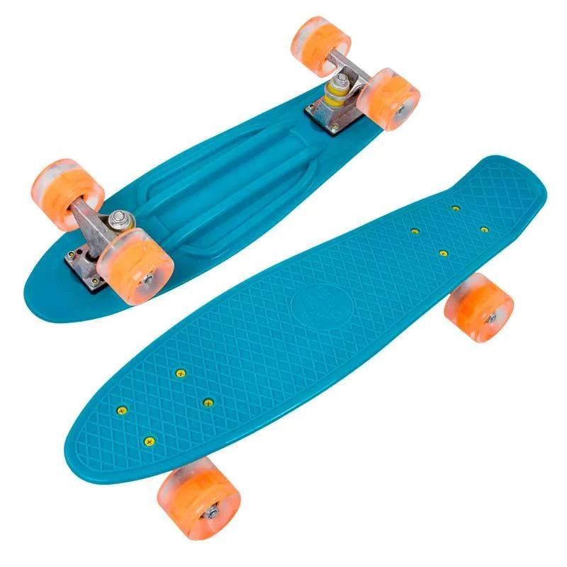 Пенні скейт борд зі світними колесами Best Board Блакитний