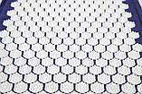 Масажний килимок і подушка (аплікатор Кузнєцова) масажер для спини/шиї/тіла OSPORT Lotus Mat Eco (apl-020), фото 3