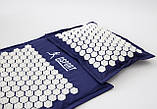 Масажний килимок і подушка (аплікатор Кузнєцова) масажер для спини/шиї/тіла OSPORT Lotus Mat Eco (apl-020), фото 2