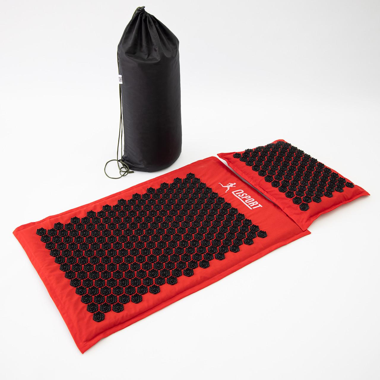 Массажный коврик Аппликатор Кузнецова + массажная подушка массажер для шеи OSPORT Lotus Mat Eco (apl-020)