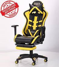 Геймерское кресло VR Racer Dexter Megatron черный/желтый AMF (бесплатная адресная доставка)