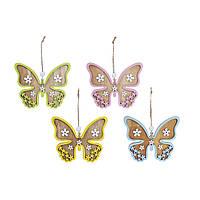 """Пасхальна прикраса """"Метелик"""" на підвісці 10,5см 4 види 781-919/Bonadi"""
