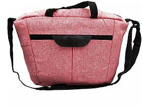 Сумка органайзер Foofoo рожева універсальна для коляски, для подорожей