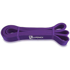 Гумова петля для фітнесу U-Powex Фіолетова (16-38 кг)