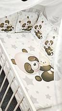 """Набір постільної білизни дитяче ліжечко/ манеж """"Панда"""" - Бортики в ліжечко / Захист в дитяче ліжечко, фото 3"""
