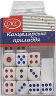 Кубик 1092-1 игральный 14,5х14,5мм 12шт в пласт. уп12