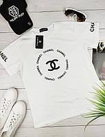 Белая женская футболка Chanel Шанель