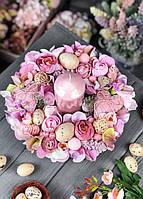 Пасхальная композиция на стол со свечей «Нежность весны»