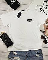 Белая женская футболка Prada Прада шикарная новинка