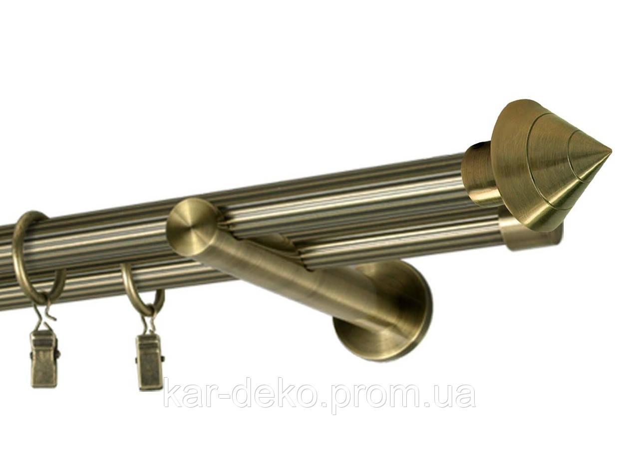 Карниз металевий дворядний 50