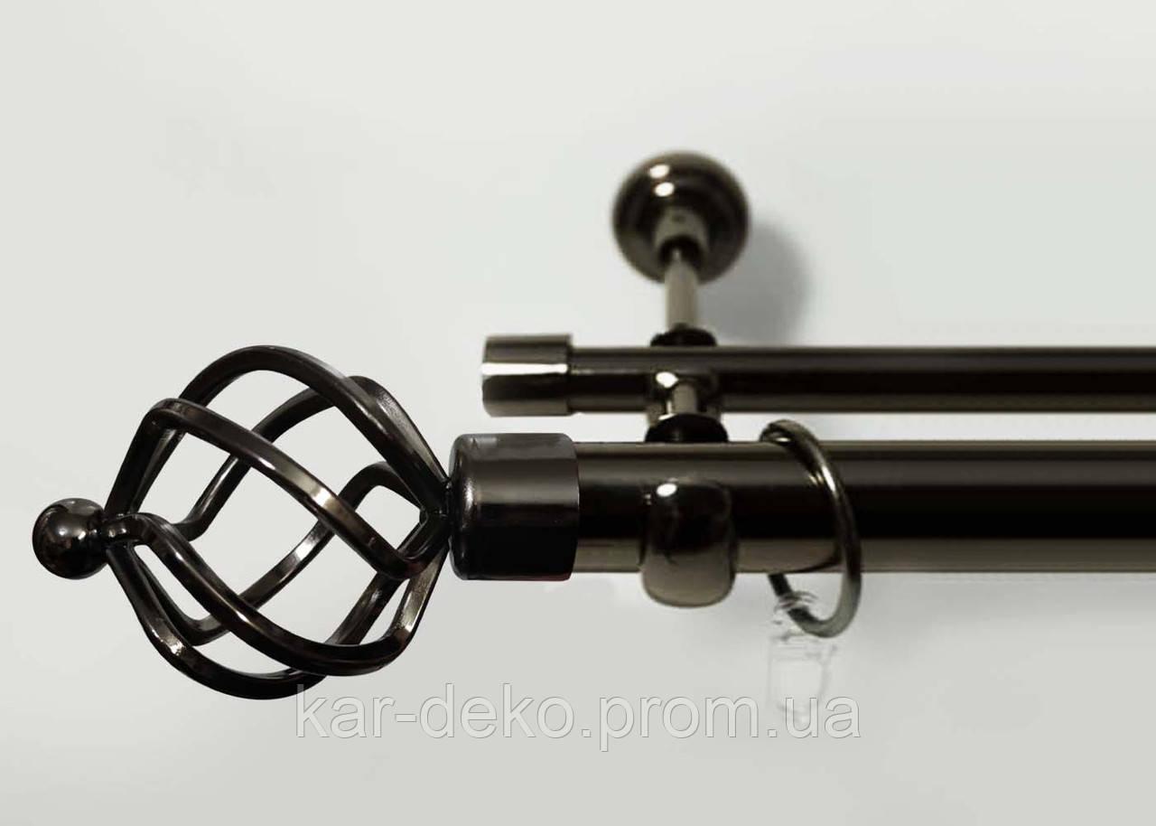 Карниз металлический двухрядный 56