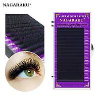 Ресницы Nagaraku на ленте, для наращивания, черные, Нагараку, одна длина