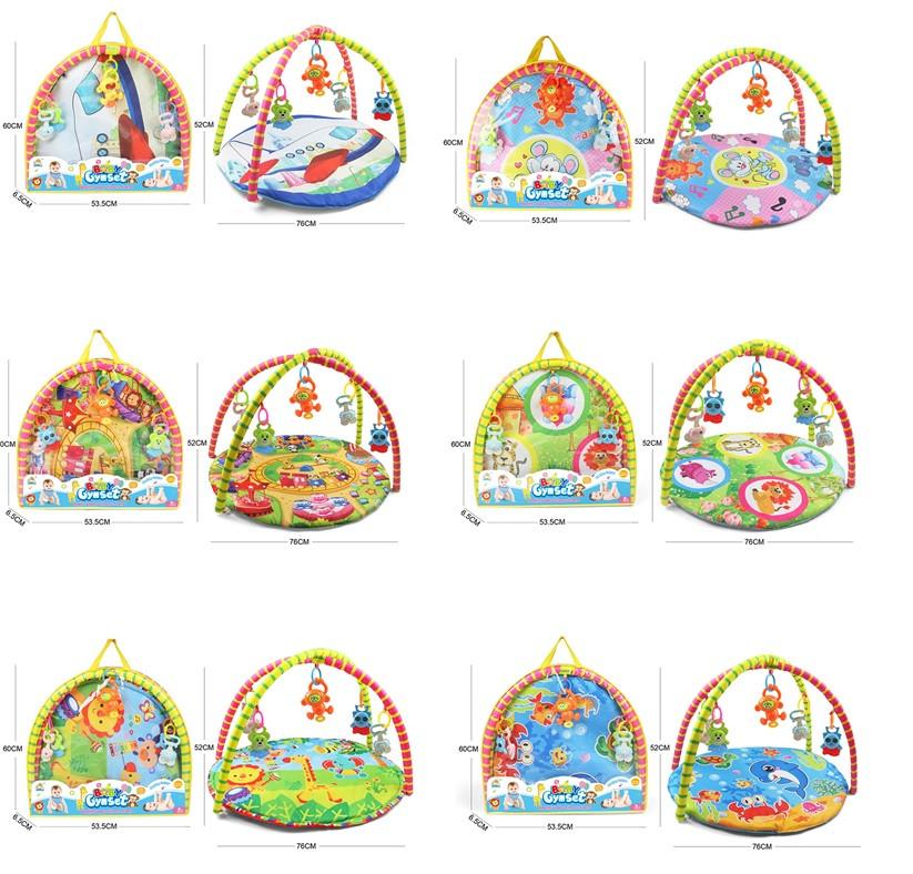 Коврик для малышей, с погремушками на дуге, в сумке. pro