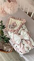 Конверт для новорожденных / одеяло конверт на выписку / одеяло детское в кроватку / стеганое одеяло детское