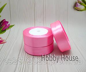 Лента атлас 25 мм, ярко-розовый