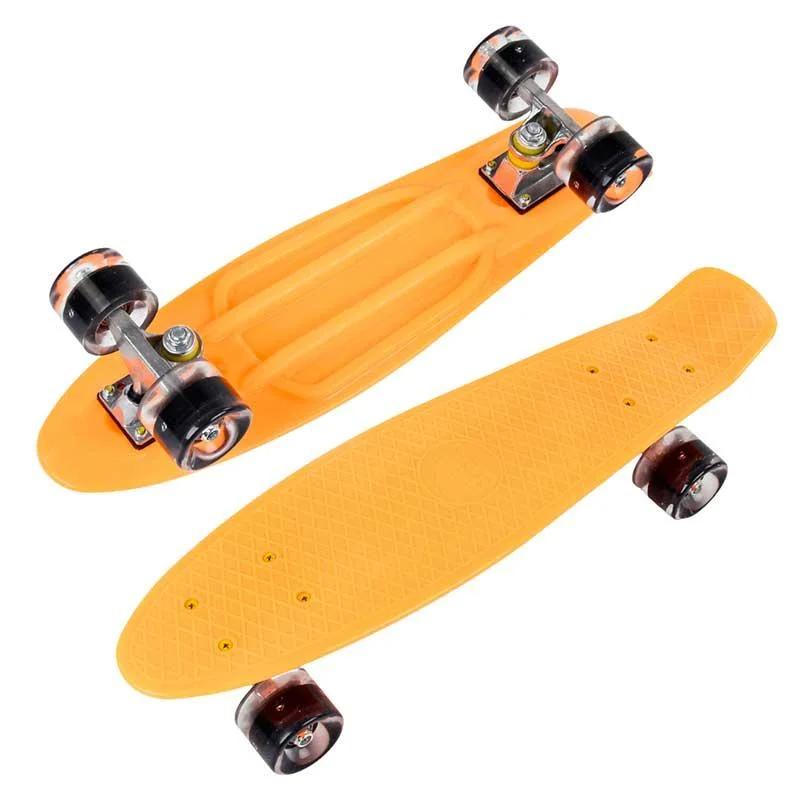 Пенні скейт борд зі світними колесами Best Board Помаранчевий