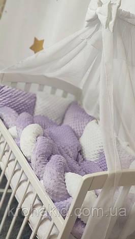 """Набір постільної білизни дитяче ліжечко """"Коса"""" - Бортики в ліжечко: конверт-ковдру - 8 предметів, фото 2"""