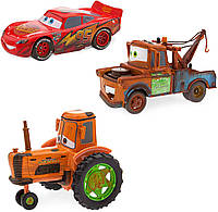 Игровой набор трех героев из мультфильма Тачки (Disney Pixar Radiator Springs Pull 'N' Race Die Cast 3-Pack)