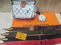 Модная женская белая Сумка Louis Vuitton 3 в 1 луи витон