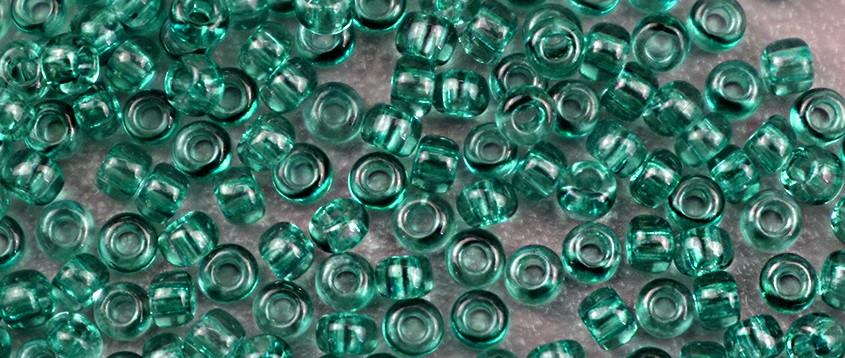 Чешский бисер Preciosa /10 для вышивания Бисер оливковый прозрачный 01664