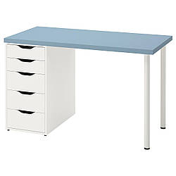 IKEA LAGKAPTEN / ALEX  Письменный стол, голубой / белый (294.170.03)