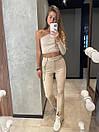 Класичні брюки кльош з розрізами знизу на високій посадці (р. S, M) 8312597, фото 4