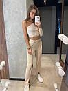 Класичні брюки кльош з розрізами знизу на високій посадці (р. S, M) 8312597, фото 6
