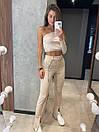 Класичні брюки кльош з розрізами знизу на високій посадці (р. S, M) 8312597, фото 7