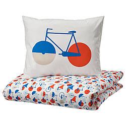 IKEA SPORTSLIG  Комплект постельного белья, выкройка велосипеда (704.957.00)