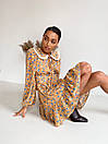 Платье c воротничком и шнуровкой на груди с оборками внизу летнее (р. S, M, L) 14032286, фото 4
