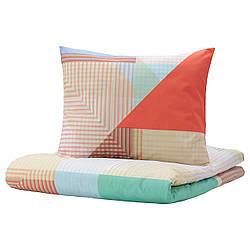 IKEA PIMPERNÖT  Комплект постельного белья, разноцветный (104.905.88)