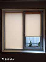 Рулонные шторы ткань  Лён Т 0877 Персик