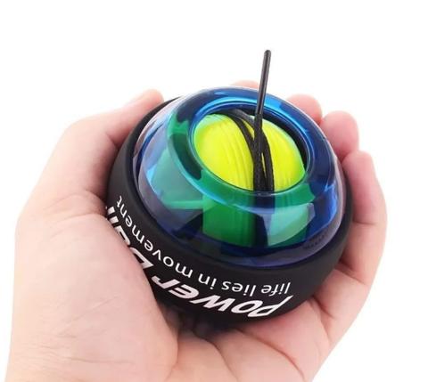 Кистьовий ручної тренажер Powerball NEW для зап'ястя світиться в темряві Blue power ball, фото 2